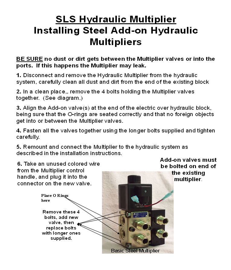 Add On Hydraulic Multiplier : Product detail